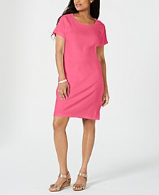 Petite Button-Shoulder Shirtdress, Created for Macy's