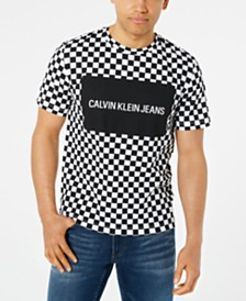 Calvin Klein Jeans Men's Checkerboard Logo Box Graphic T-Shirt