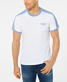 Calvin Klein Jeans Men's Mesh Pieced Logo Graphic T-Shirt
