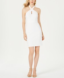 Adrianna Papell Halter-Neck Sheath Dress