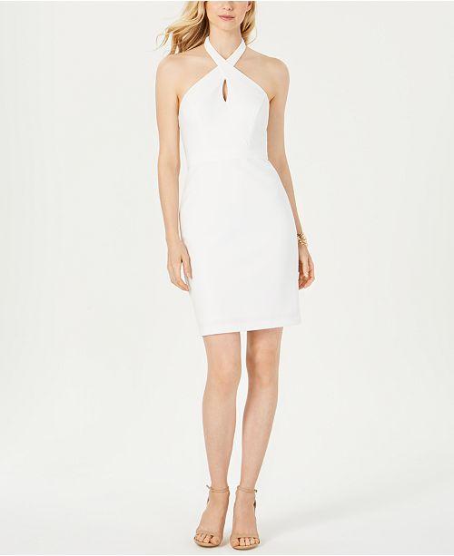Adrianna Papell Halter-Neck Sheath Dress