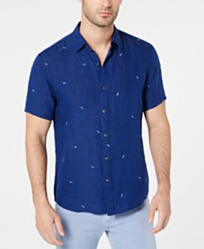 Michael Kors Men's Slim-Fit Sunglasses Embroidered Linen Shirt