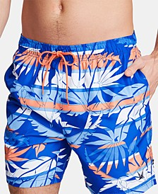 "Nautica Men's Blue Sail Quick Dry 8"" Swim Trunks, Created for Macy's"