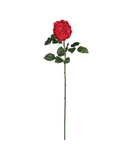 "Nearly Natural 31"" Large Rose Stem, Set of 12"
