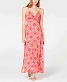 American Rag Juniors' Printed Twist-Front Maxi Dress, Created for Macy's