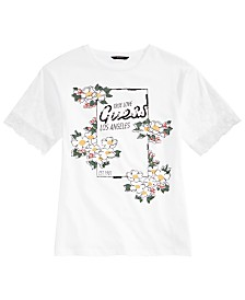 GUESS Big Girls Floral & Lace Graphic T-Shirt