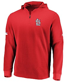 Majestic Men's St. Louis Cardinals Authentic Batting Practice Waffle Hoodie
