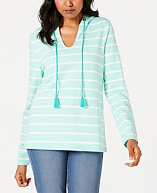 Striped Tasseled Hoodie, Created for Macy's