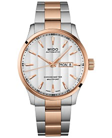 Mido Men's Swiss Automatic Multifort Chronometer Two-Tone Stainless Steel Bracelet Watch 42mm