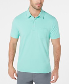 Club Room Men's Stretch Stripe Pocket Stretch Polo, Created for Macy's