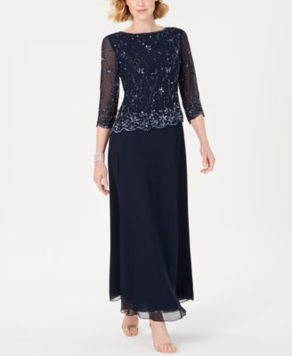 J Kara Beaded-Overlay Gown \u0026 Reviews
