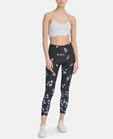 DKNY Sport Printed High-Rise Ankle Leggings