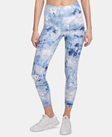 DKNY Sport Tie-Dyed Ankle Leggings