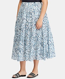 Lauren Ralph Lauren Plus Size Tiered Skirt