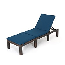 Jamaica Outdoor Chaise, Quick Ship