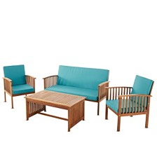 Carolina Outdoor 4pc Chair Set, Quick Ship
