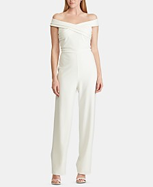 Lauren Ralph Lauren Crepe Off-The-Shoulder Jumpsuit