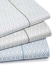 Textured Lattice Cotton 525-Thread Count Sheet Sets, Created for Macy's