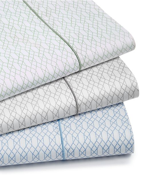 Hotel Collection  Textured Lattice Cotton 525-Thread Count 4-Pc. King Sheet Set, Created for Macy's