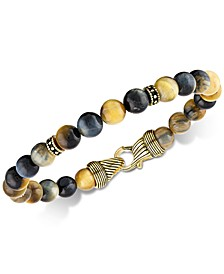 Golden Tiger's Eye Bracelet in 14k Gold Over Sterling Silver, Created for Macy's