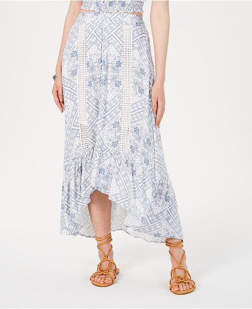 American Rag Juniors' Printed High-Low Maxi Skirt, Created for Macy's