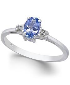 Tanzanite (1/2 ct. t.w.) & Diamond Accent Ring in 14k White Gold