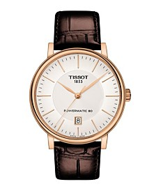 Tissot Men's Carson Premium Powermatic Brown Leather Strap Watch 40mm