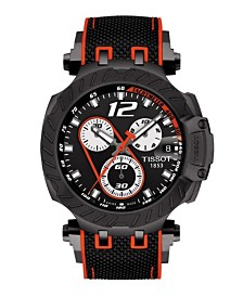 Tissot Men's T-Race Marc Marquez 2019 Swiss Automatic Limited Edition Black And Red Rubber Strap Watch 47.6mm