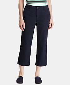 Lauren Ralph Lauren Petite Straight Cotton Twill Pants