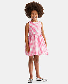 Polo Ralph Lauren Toddlers Checkered Fit-and-Flare Dress, Created for Macy's