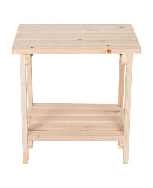 Shine Company Rectangular Side Table