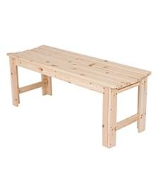 4 Ft. Backless Garden Bench