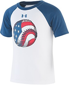Under Armour Little Boys Baseball Quick-Dry Moisture-Wicking Logo T-Shirt