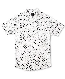 RVCA Men's Shake Along Slim Fit Spot Print Shirt
