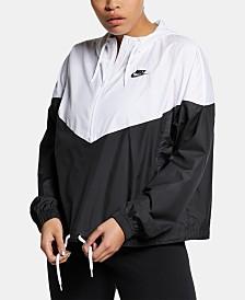 Nike Plus Size Heritage Half-Zip Windbreaker