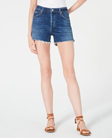 Citizens of Humanity Santiago Marlow Cutoff Denim Shorts