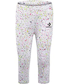 Converse Big Girls Splatter-Print Capri Leggings