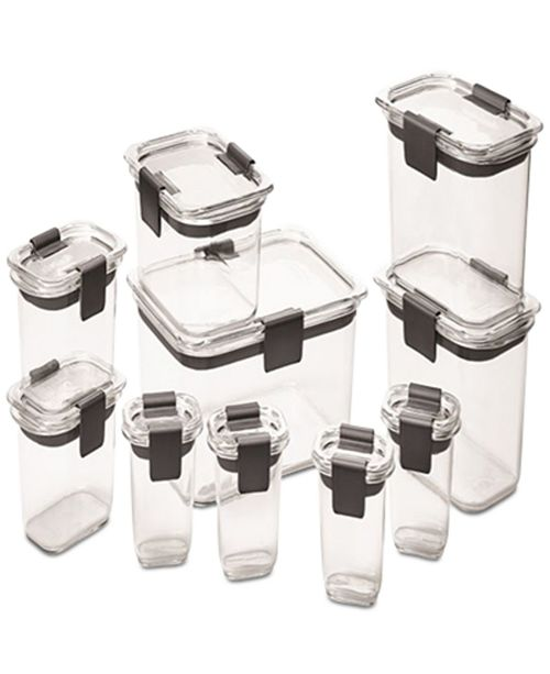 Rubbermaid Brilliance 20-Pc. Container Set & Reviews - Home - Macy's