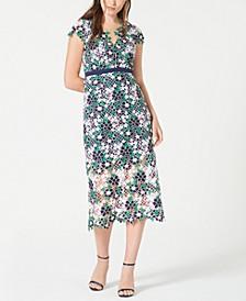 Floral Lace A-Line Dress