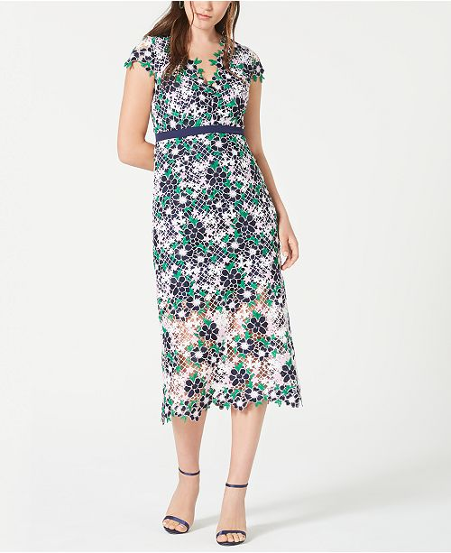 foxiedox Floral Lace A-Line Dress