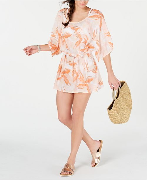 Roxy Juniors' Printed Cover-Up Dress