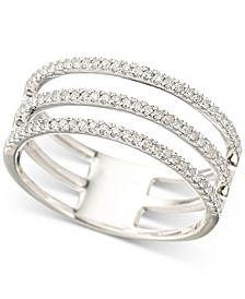Diamond Triple Band Stack Look Ring (1/3 ct. t.w.) in Sterling Silver