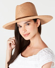 Frye Straw Dice Kettle Edge Wide Brim Hat