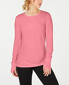 Crochet-Back Long-Sleeve Top, Created for Macy's
