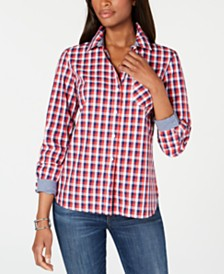 Tommy Hilfiger Plaid Button-Down Shirt, Created for Macy's