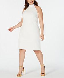Trendy Plus Size Halter Sheath Dress
