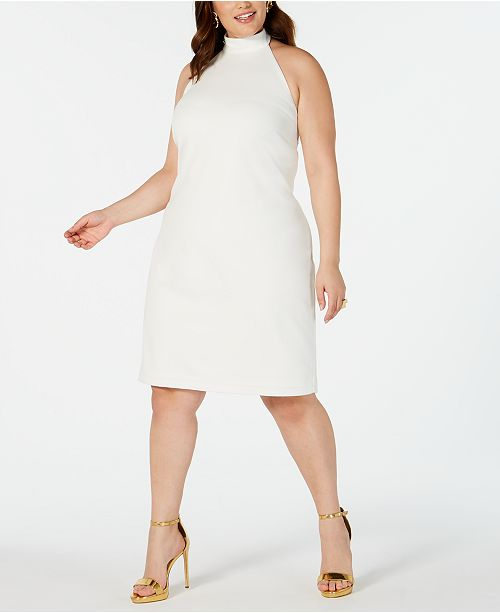 Teeze Me Trendy Plus Size Halter Sheath Dress