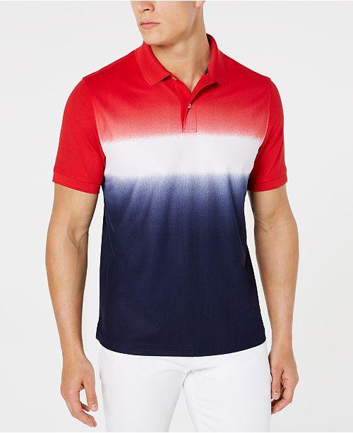 Club Room Men's Americana Ombré Polo, Created for Macy's