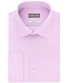 Men's Slim-Fit Airsoft Stretch Moisture-Wicking Non-Iron French-Cuff Dress Shirt