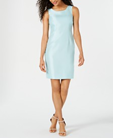 Kasper Shiny Sheath Dress
